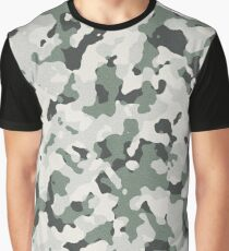 brown white camo Graphic T-Shirt