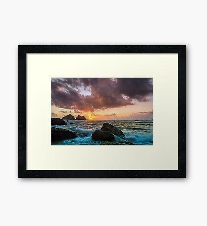 Holywell Bay Framed Print