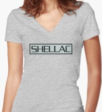 Shellac At Action Park Women's Fitted V-Neck T-Shirt