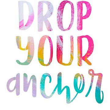 Drop Your Anchor Rainbow pintado de kayceedesigns