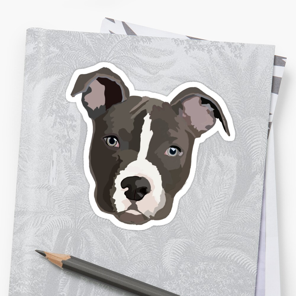 Quot Pitbull Quot Sticker By Jhellerman Redbubble