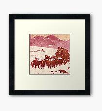 Stagecoach winter Framed Print