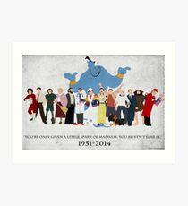 Minimalist Inspired Robin Williams Character Tribute Art Print