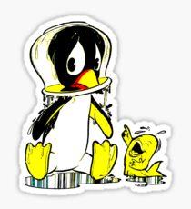 Penguin Bowl Sticker