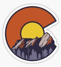 Flatirons Boulder Colorado Sticker