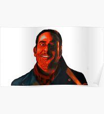 Negan Fanart- Crimson Ver. Poster