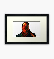 Negan Fanart- Neon Copper Ver. Framed Print