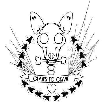 Claws To Grave Halloween Bull Terrier Skull Bones by Ejmckinney19