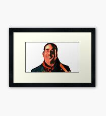 Negan Fanart- Copper Ver. Framed Print