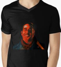 Negan Fanart- Crimson Ver. Men's V-Neck T-Shirt