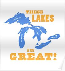 GREAT LAKES - These Lakes are Great! Poster