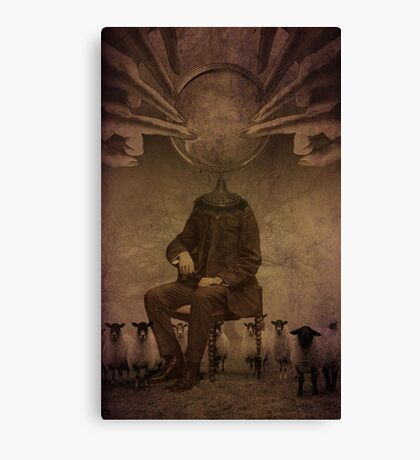 Follow him...he will lead you Canvas Print