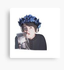 Leafy Is Here Flower Crown Canvas Print
