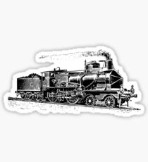 Vintage European Train A4 Sticker