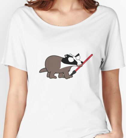 herbert, the angry zombie badger on the dark side Women's Relaxed Fit T-Shirt