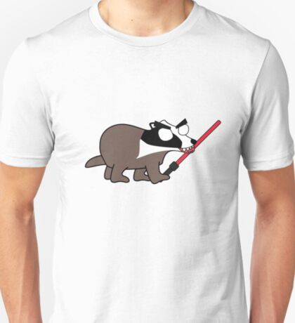 herbert, the angry zombie badger on the dark side T-Shirt