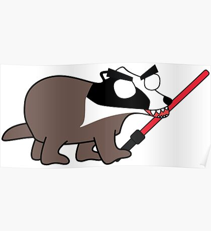 herbert, the angry zombie badger on the dark side Poster