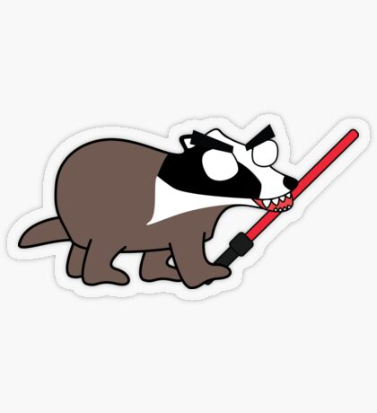 herbert, the angry zombie badger on the dark side Transparent Sticker