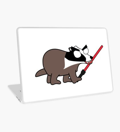 herbert, the angry zombie badger on the dark side Laptop Skin