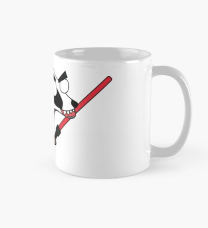 herbert, the angry zombie badger on the dark side Mug