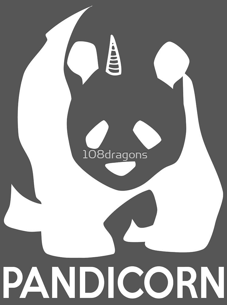 PandiCorn - White Logo Design by 108dragons