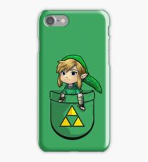Pocket Link Hero of Time Zelda with Triforce iPhone Case/Skin