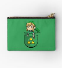 Pocket Link Hero of Time Zelda with Triforce Studio Pouch