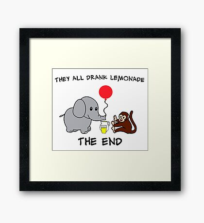 The Elephant Who Lost His Balloon Framed Print