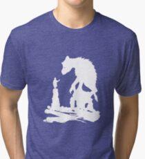 The Last - White Brush  Tri-blend T-Shirt