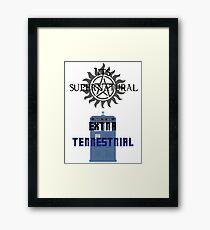 Its supernatural Dr who Framed Print