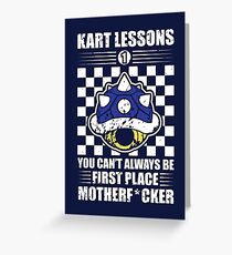 Kart Lessons #01 Greeting Card