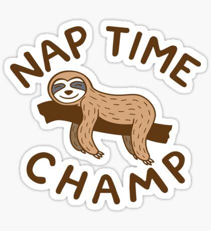 Nap Time Champ Sticker