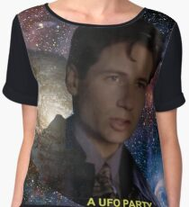 Spaced Out Mulder Chiffon Top