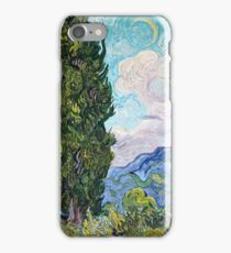 Vincent Van Gogh - Cypresses 1989  iPhone Case/Skin