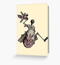 Elsie Got A New Space Hopper! Greeting Card