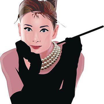 Audrey Hepburn by martianart