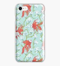 Goldfish, Mask and Magnolia Pattern iPhone Case/Skin