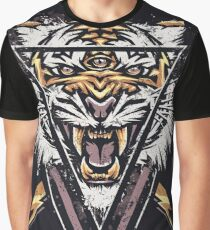Thee-eyed Tiger Graphic T-Shirt