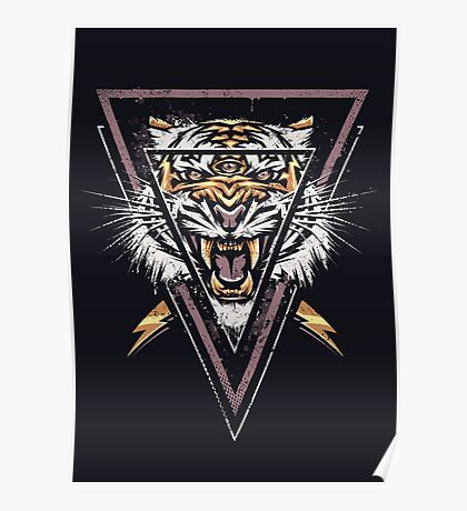 Thee-eyed Tiger Poster
