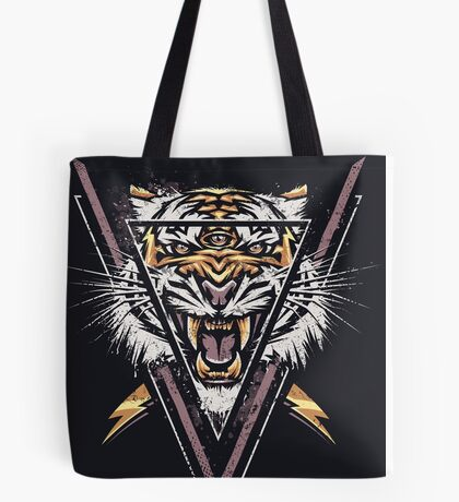 Thee-eyed Tiger Tote Bag
