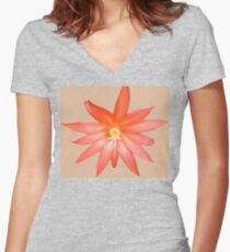 Orange on its Own Women's Fitted V-Neck T-Shirt