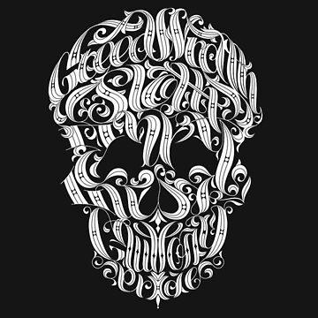 skull by azkatroart