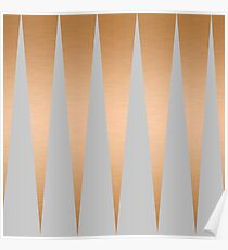 Shiny Copper Grey Spike Poster