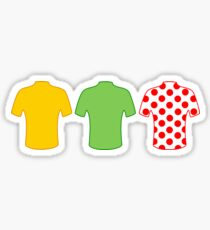 Tour de France jerseys Sticker