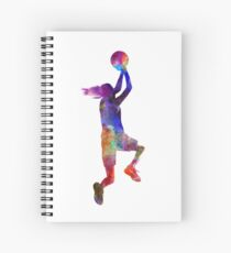 young woman basketball player 05 Spiral Notebook
