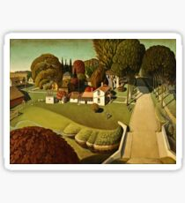 Grant Wood - Birthplace Of Herbert Hoover  Sticker