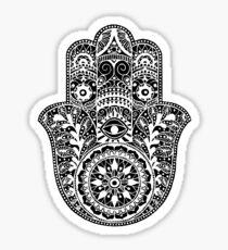 White Hamsa Hand Sticker