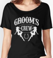 Old West Bachelor Party - Groom's Crew Version Women's Relaxed Fit T-Shirt