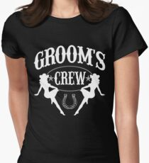 Old West Bachelor Party - Groom's Crew Version Women's Fitted T-Shirt