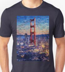 San Francisco Sky Line and the Golden Gate Bridge T-Shirt